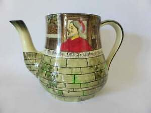 Royal-Doulton-034-Jackdaw-Of-Rheims-034-Lord-Archbishop-Of-Rheims-Teapot-No-Lid-1930s