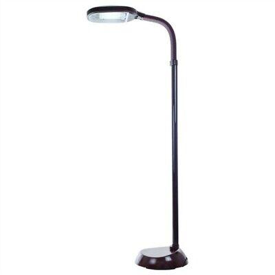 Dark Wood Sunlite Full Spectrum Bird Cage Floor Lamp for ...