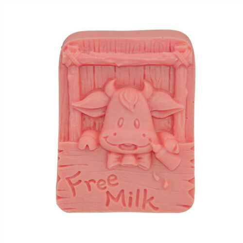 New Baby Cow Soap Mould Candle Mold DIY Handmade Silicone Sugar Cake Mold