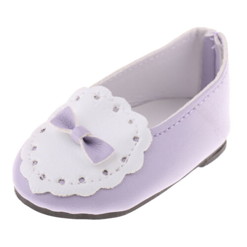 Doll Casual Slip on Shoes w//Bowknot for 18/'/' AG American Doll Dolls Accessories