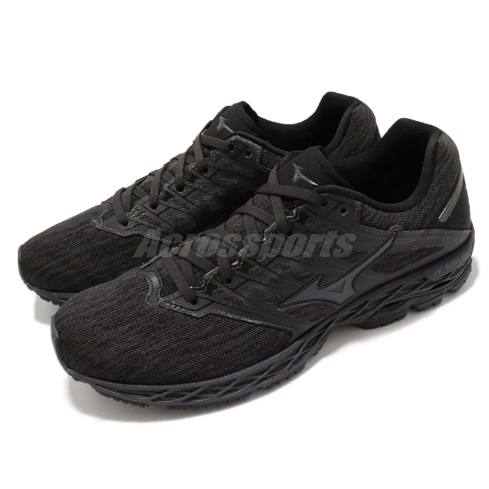 buy popular 34fb4 d7f96 Mizuno Wave Wave Wave Shadow 2 Black Running Training Shoes Sneakers  J1GC1830-51 7c42d0