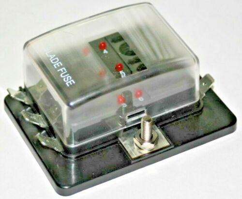 BOOT // KFZ: 6-Fach Ausfallled LED Sicherungshalter // Sicherungsdose