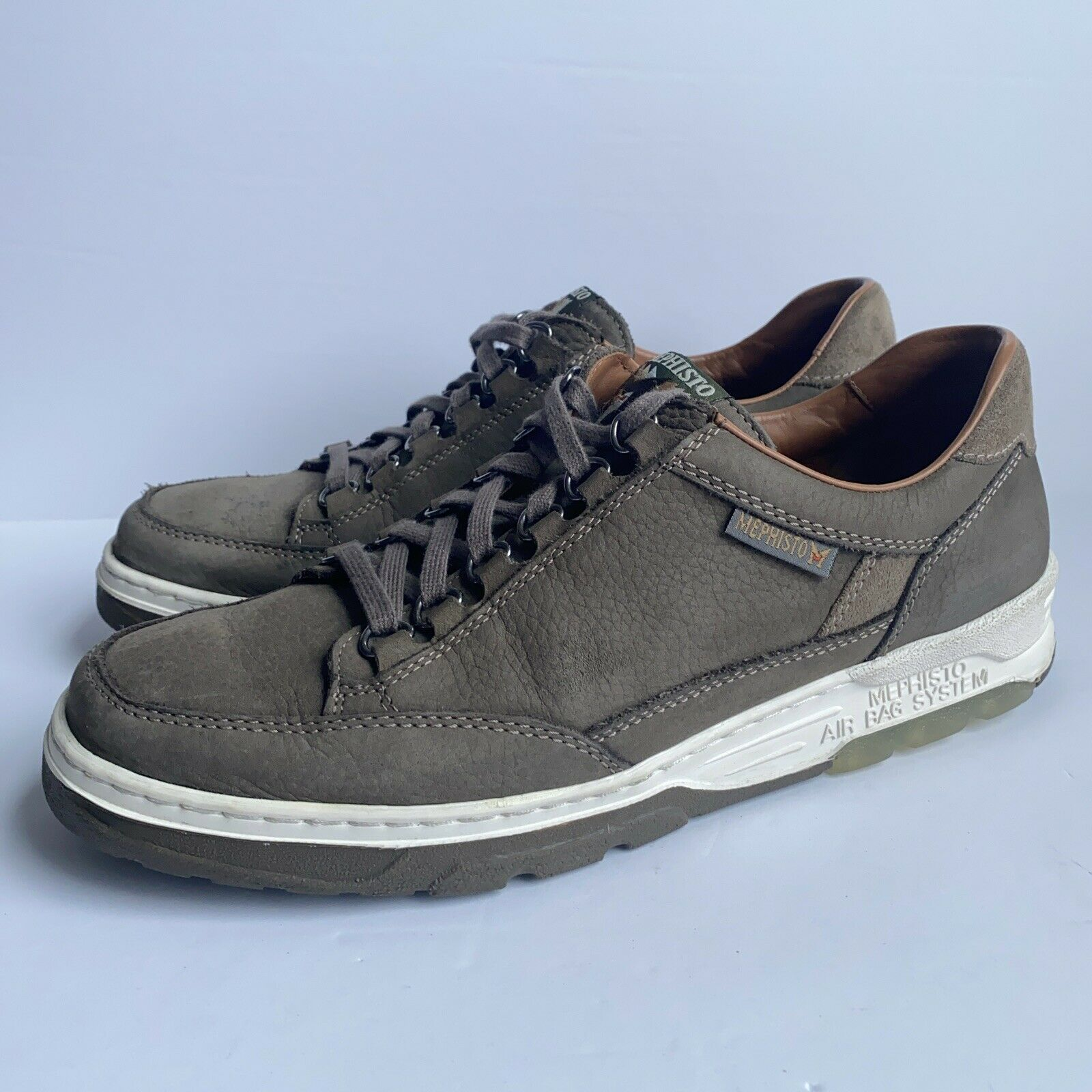 Mephisto - Mick - Taupe Brown Gray Sport Buck Fashion Sneaker - Men's Size 11