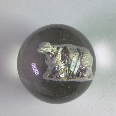 Antike Sulphide Murmel - Grosse Murmel Mit Eisbär - Marble - Lauscha