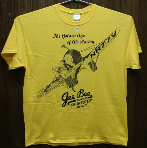 Gee Bee Model Z Airplane T-shirt with Golden Age of Racing design ADULT /& YOUTH