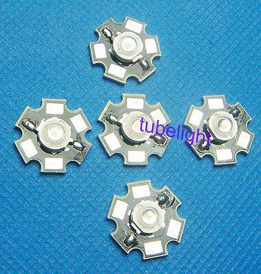 5pcs 3W High Power LED Lamp Bead Infrared IR Light 730-740nm &20mm star Base