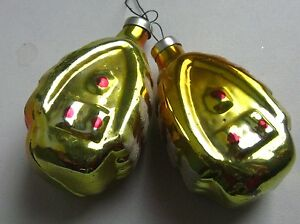 Details About Antique Russian Christmas Silver Glass Ornaments 2 Houses