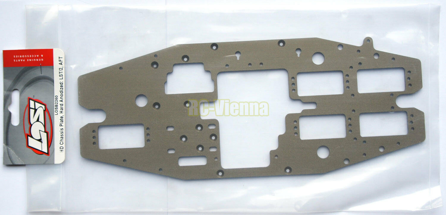 Team Losi 1/8 LST/LST2/AFT/MGB HD Chassis Plate Hard Anodized  NEW  LOSB2260