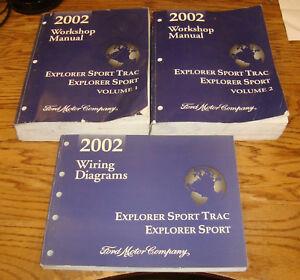 2002 Ford Explorer Sport Sport Trac Shop Manual Vol 1 2 Wiring Diagrams Set Ebay