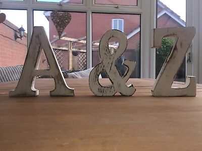 Shabby Chic Vintage Large 15 cm and 11 cm Wooden Letters Hand Finished Alphabets Free-Standing Or Wall Mounted D/écor for Weddings Baby Names Signs Unique Personalised Gift. Black, Letter P