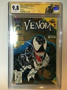 Venom-Lethal-Protector-1-Gold-Variant-CGC-9-8-SS-Bagley-Sign-amp-Sketch-RARE-1993