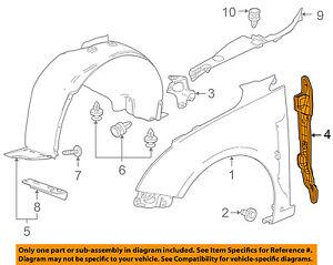 chevrolet gm oem 11 15 cruze fender rear insulator left. Black Bedroom Furniture Sets. Home Design Ideas