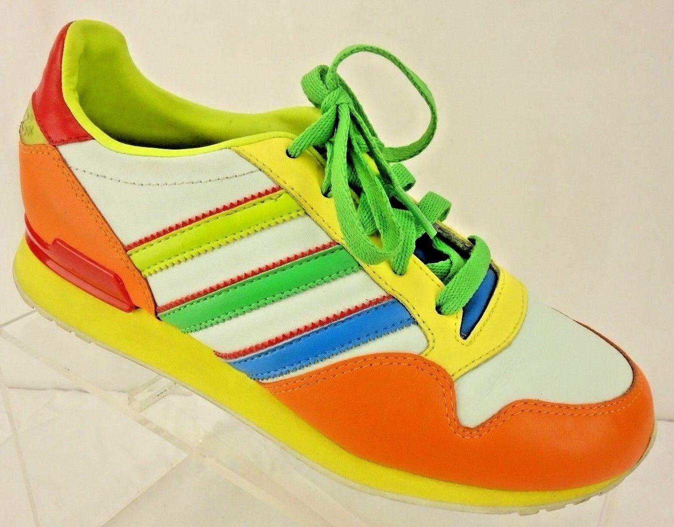 ADIDAS ZXZ+ Multi Color Leather Stripe Sneaker Athletic Shoe Men's 4.5 Medium