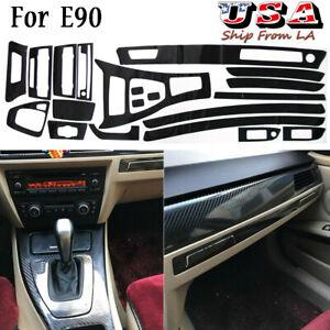 For Bmw 320i 325i 328i E90 Interior Decal 5d Reflective Carbon Fiber Car Trim 5d Ebay