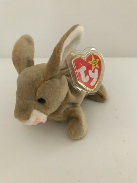 """Ty ORIGINAL BEANIE BABY - """"NIBBLY THE BUNNY"""" -  MWMT/s - NICE FRIEND FOR NIBBLER"""