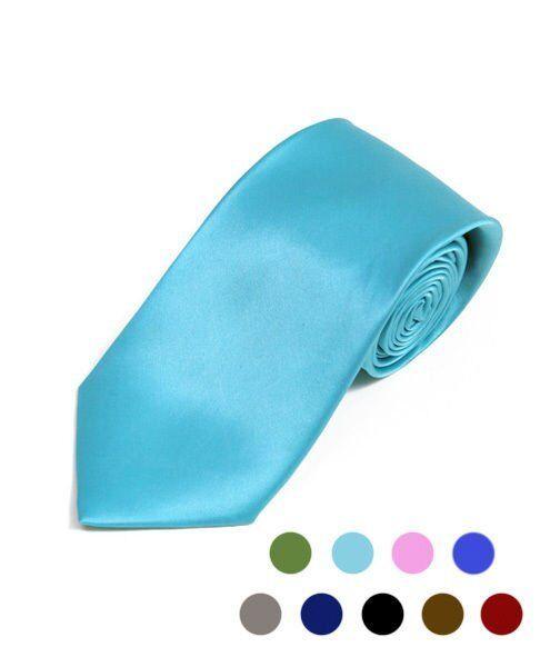"PPS2501-6pk 6 Pack Men/'s Poly Solid 2/"" Slim Tie"