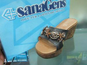 new products 03da6 ce887 Dettagli su SANAGENS SCARPE DONNA ITALIANE PANTOFOLE SABOT SANDALI  GIUSTAPPOGGIO 249 NERO