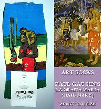 ART SOCKS Paul Gaugin HAIL MARY Ladies Mens ANKLE HIGH Mother Child WOVEN DESIGN