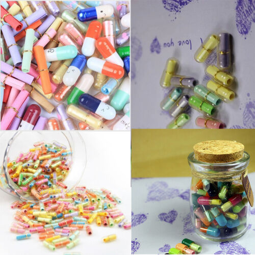 Brand New 50 Pcs  Message Capsule Adorable Pills Special Collections Popular
