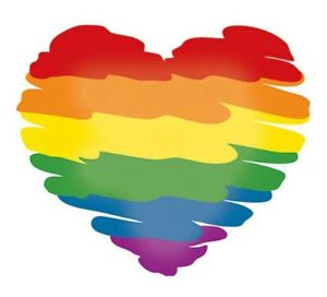 Rainbow-Gay-Pride-Flag-Heart-Decal-Car-Bumper-Sticker-Window-Wall-Laptop-LGBT