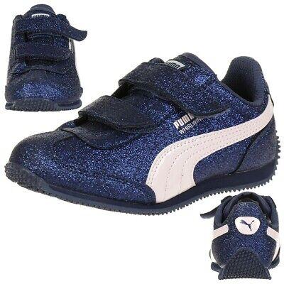 Puma Whirlwind Glitz V PS Baby Mädchen Schuhe Glitzer blau