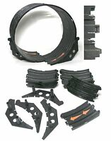 18pc Tomy Aurora Afx Ho Slot Car Double Loop Transition Tracks +supports Unused
