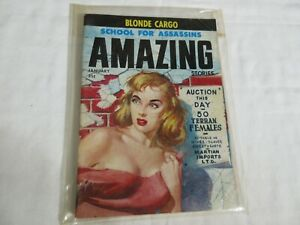 Amazing-Stories-JANUARY-1958-Vintage-Science-Fiction-good-condition-Vol-32-no-1
