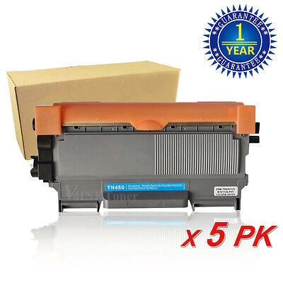 5PK For Brother TN450 TN420 Toner Cartridge Hl-2220 2240 2130 MFC-7360N 7860DW