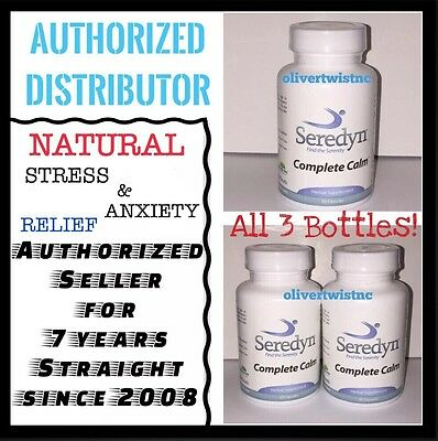 SEREDYN RELIEVES STRESS, PANIC ATTACKS AND ANXIETY 3 BOTTLES JAN 2020