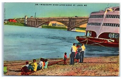 Shipping Scene on the Levee St Louis Mo -Grey Eagle