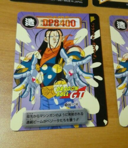 DRAGON BALL Z GT DBZ HONDAN PART 30 CARD REG CARTE 190 MADE IN JAPAN 1997 MINT