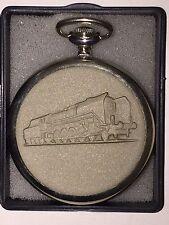 MOLNIJA Pocket Watch 3602 Train/ Locomotive 18 Jewels NEW Russia