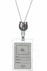 Horse-Horseshoe-Turquoise-Coral-Necklace-ID-Badge-Name-Tag-Key-Holder-Lanyard