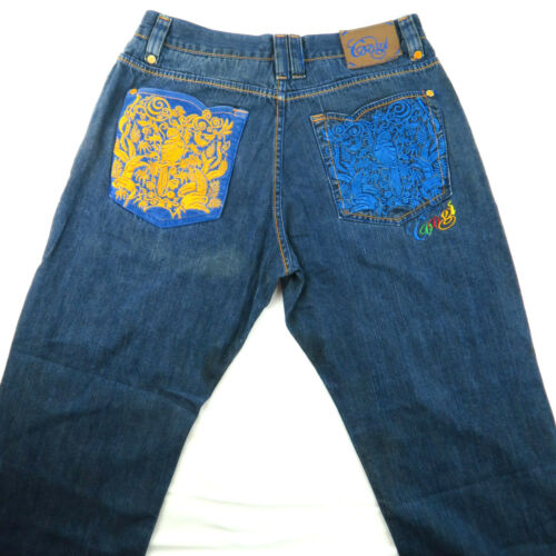 Coogi Mens Jeans HipHop Baggy Loose Embroidered Po