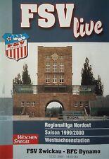 Programm 1999/00 FSV Zwickau - BFC Dynamo