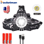 200000Lm XHP70 Led Headlamp Rechargeable Headlight Zoom Flashlight Torch light