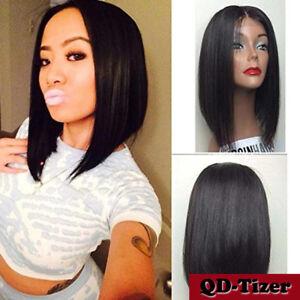 Short Black Bob Style Synthetic Lace Front Wig Japan Fiber Lace Wigs