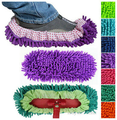 Multifunction Mop Shoe Cover Dusting Floor Cleaner Cleaning Lazy Slippers J6P8