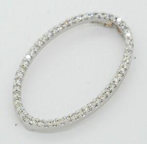 Roberto-Coin-18K-white-gold-50CTW-VS1-F-diamond-Oval-circle-pendant