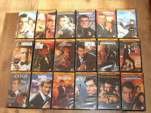 JAMES-BOND-007-VHS-1990-039-s-Collection-18-videos-16-of-them-are-Factory-SEALED