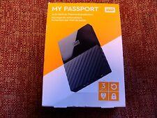 WESTERN DIGITAL MY PASSPORT 3TB WDBYFT0030BBK-WESN NEW NO RESERVE!!!!