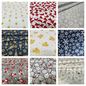 CHRISTMAS-Fabrics-100-cotton-New-Patterns-wide-roll-160cm64-039-039-craft