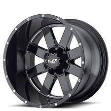 """20x10"""" Moto Metal Wheels MO962 Black Milled Rims"""