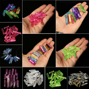 50-100g-Colorful-Natural-Fluorite-Crystal-Quartz-Points-Stone-Wand-Point-Healing