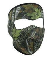 Forest Oak Leaf Woodland Camo Reversable Neoprene Face Mask Biker Hunter Ski