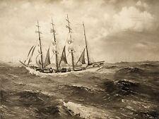 PAINTINGS SEASCAPE JOHN ENA PATTERSON SHIP BOAT SAIL OCEAN POSTER PRINT LV3450