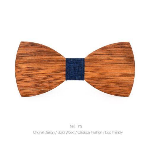3D Men Fashion Handmade Wooden Bow Tie Gifts Wedding Wood Tuxed Bowtie Necktie