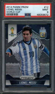LIONEL MESSI 2014 PANINI PRIZM WORLD CUP #12 PSA 9 MINT (TEAM ARGENTINA) FC6769