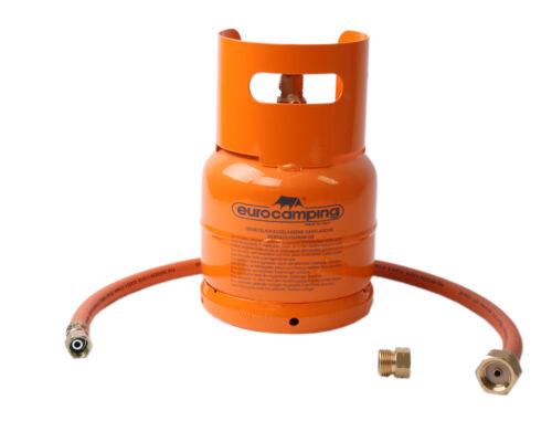 Leere orange befüllbare Gasflasche 1kg Propan Butan Flasche mit Kragen Zubehör