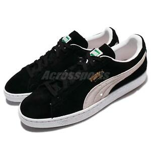 a15ad6afc95 Puma Suede Classic Black White Mens Womens Shoes Sneakers 352634-03 ...